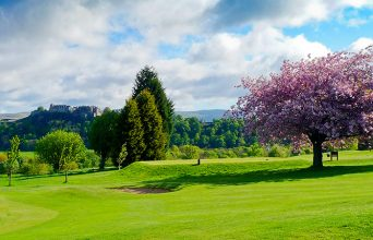There are stunning views from Stirling Golf Club in all directions across Central Scotland.