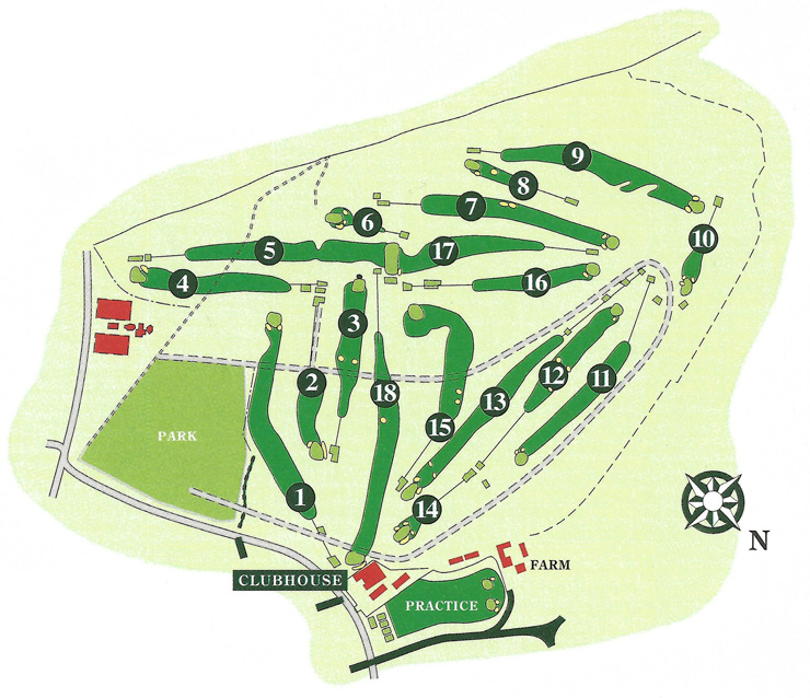 Stirling Golf Club Course layout