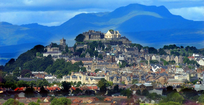 Stirling Castle, perched on its rocky crag surveying the surrounding land, is one of Scotland's grandest castles.